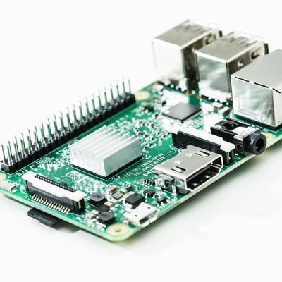 「Raspberry Pi 3(小型パソコン)」の写真素材