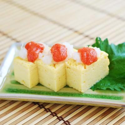 「めんたい卵焼き」の写真素材