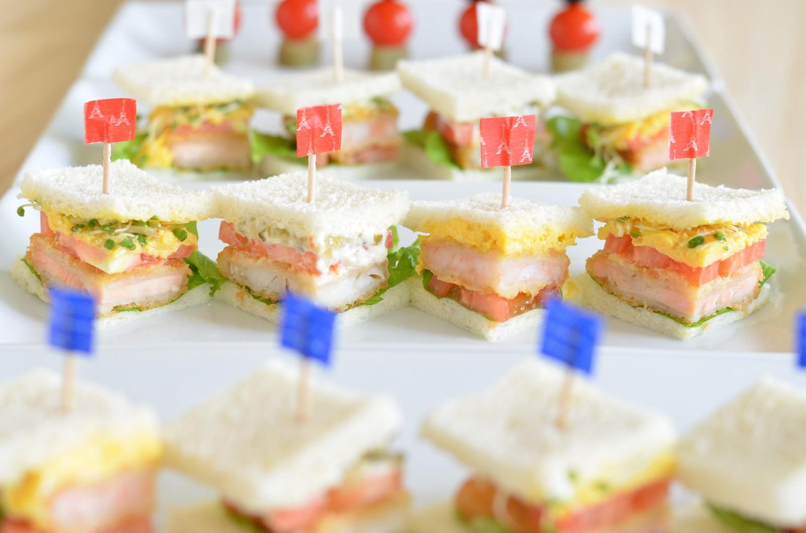 「パーティサンドイッチ」の写真