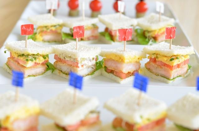 パーティサンドイッチの写真