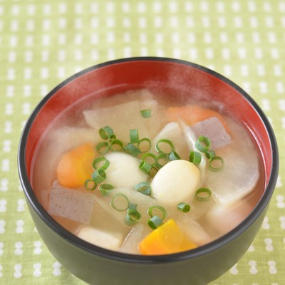「里芋の豚汁」の写真素材