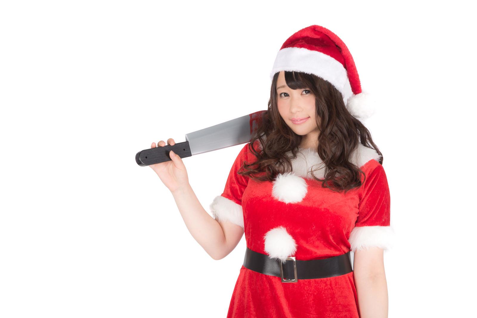 「ようこそ血のクリスマスへ(ハニートラップ)ようこそ血のクリスマスへ(ハニートラップ)」[モデル:茜さや]のフリー写真素材を拡大