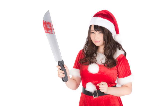 猟奇的な女性サンタの写真