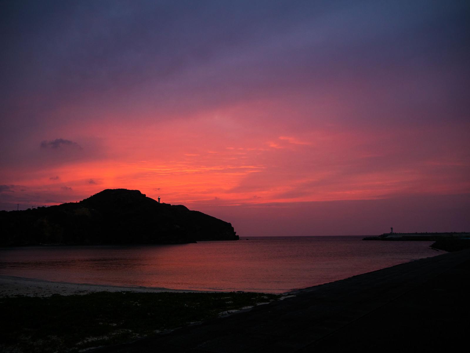 「日本最西端の夕焼け(与那国島)」の写真