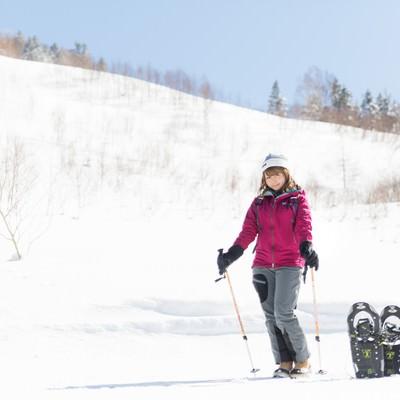 「本日は平湯温泉スキー場からお送りします」の写真素材