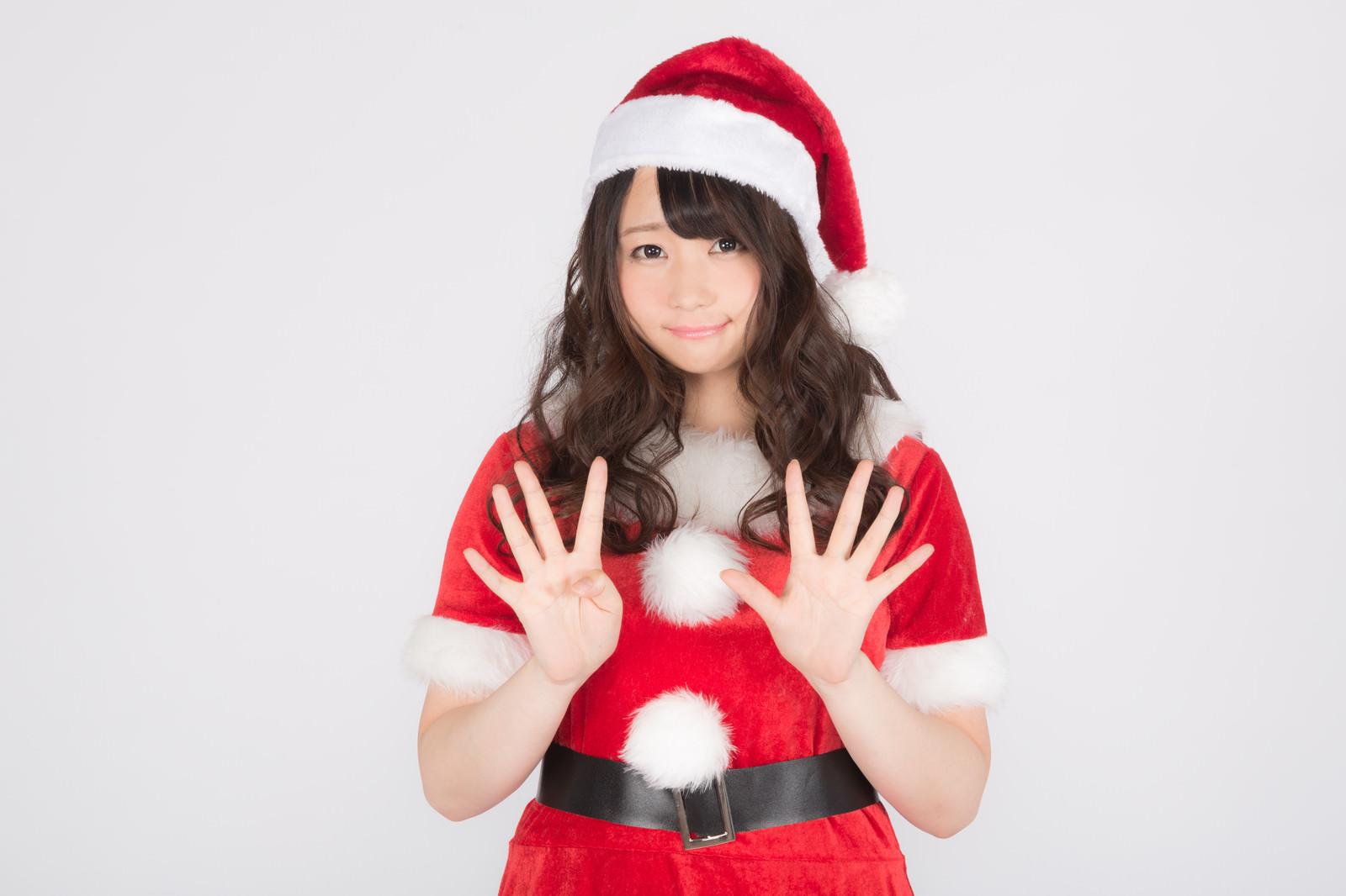 「クリスマスまで9日!予定は決まった?クリスマスまで9日!予定は決まった?」[モデル:茜さや]のフリー写真素材を拡大