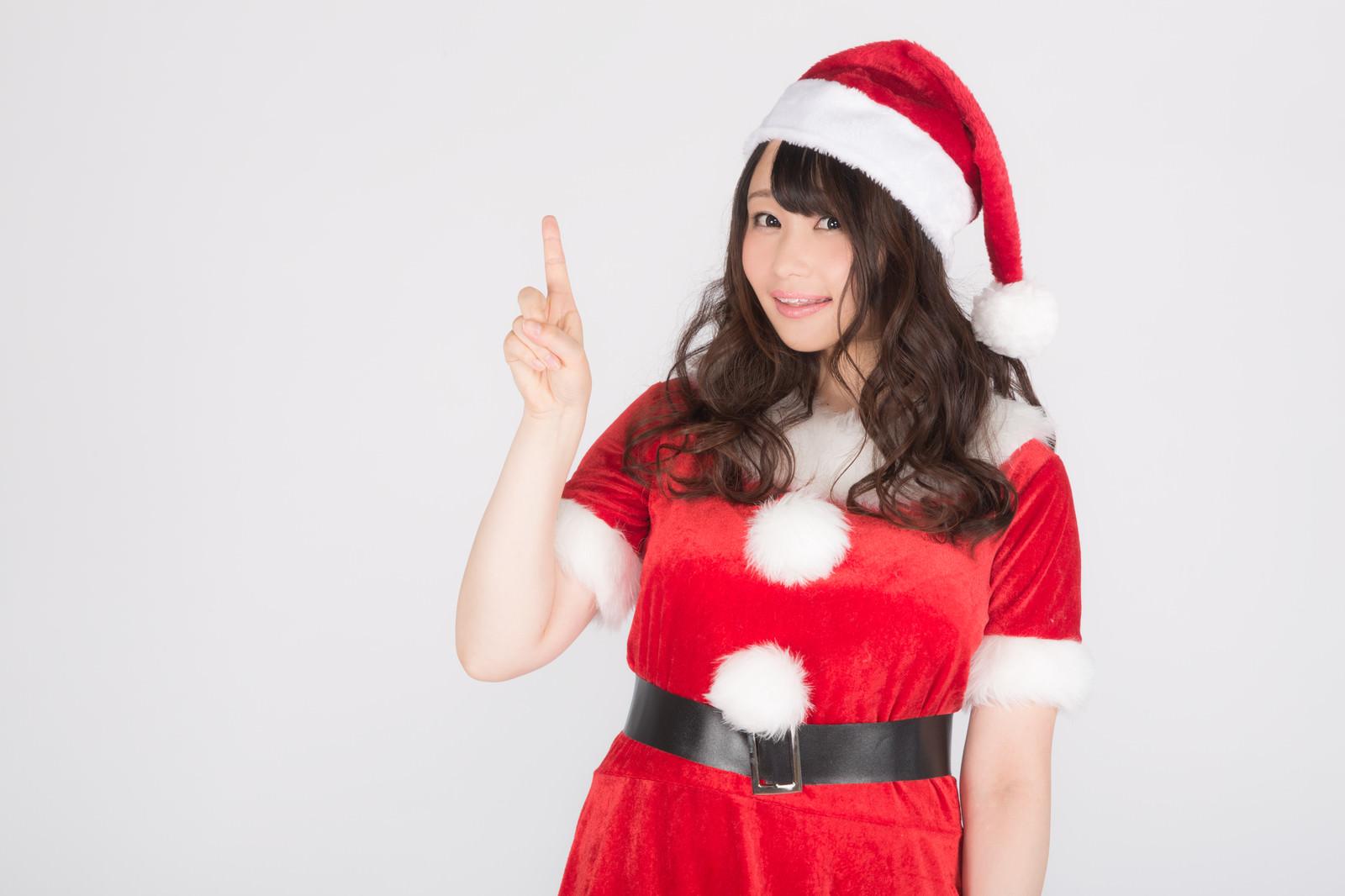 「クリスマスまであと1日!素敵な1日でありますように!クリスマスまであと1日!素敵な1日でありますように!」[モデル:茜さや]のフリー写真素材を拡大