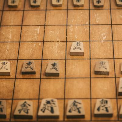 「将棋 最初の一手」の写真素材