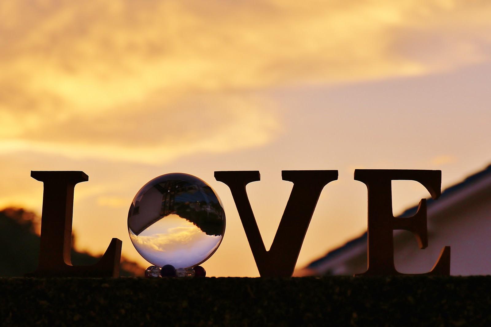 「夕焼けに染まるLOVE」の写真