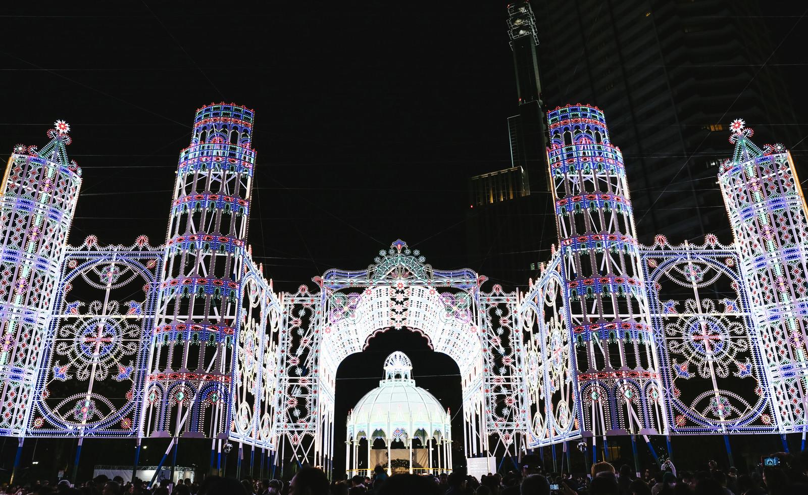 「美しい神戸ルミナリエの電飾」の写真