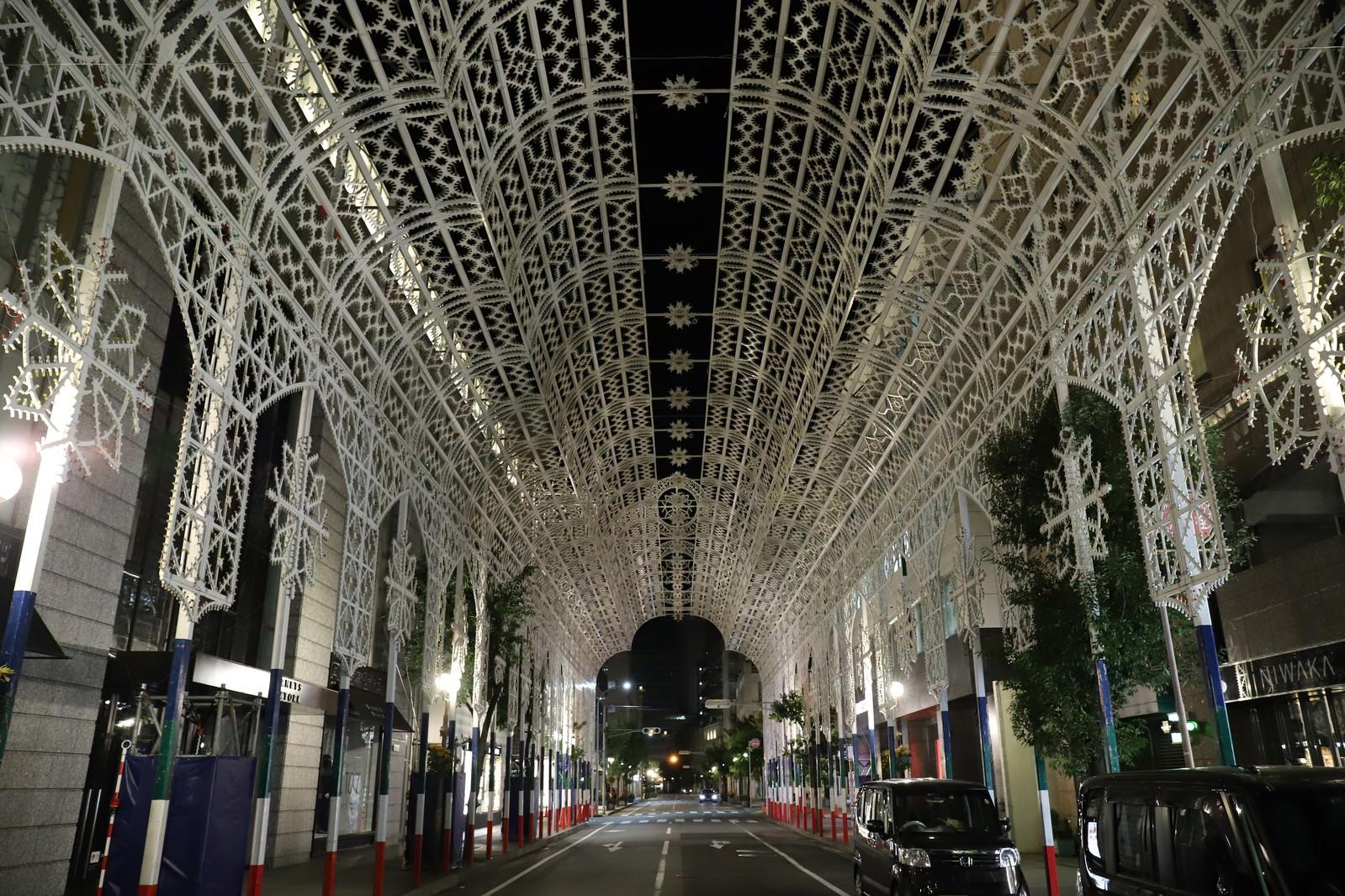 「神戸ルミナリエ点灯前の様子(消灯時)」の写真