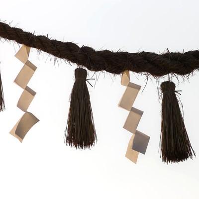 「神社の綱」の写真素材