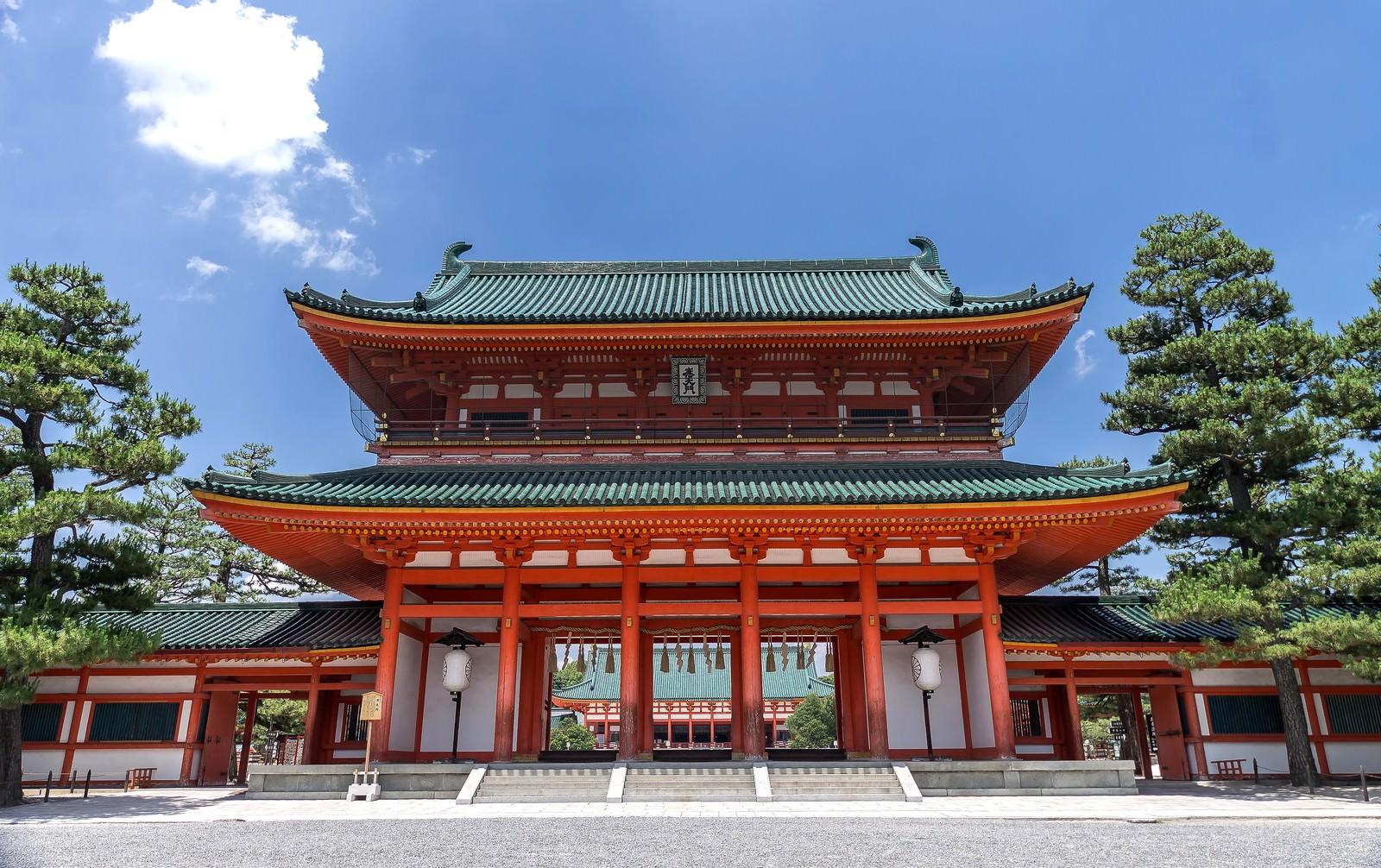 「平安神宮平安神宮」のフリー写真素材を拡大