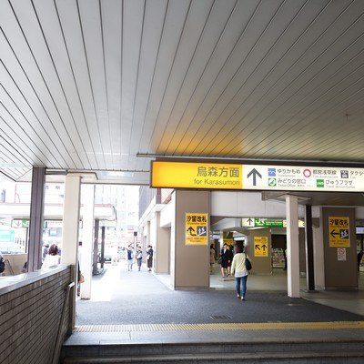 「新橋駅汐留方面出口」の写真素材