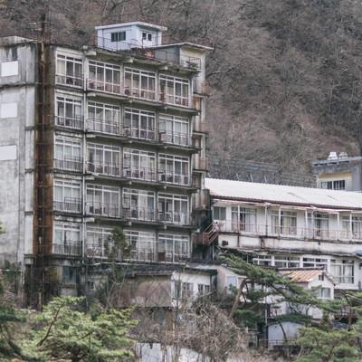「鬼怒川の廃旅館」の写真素材