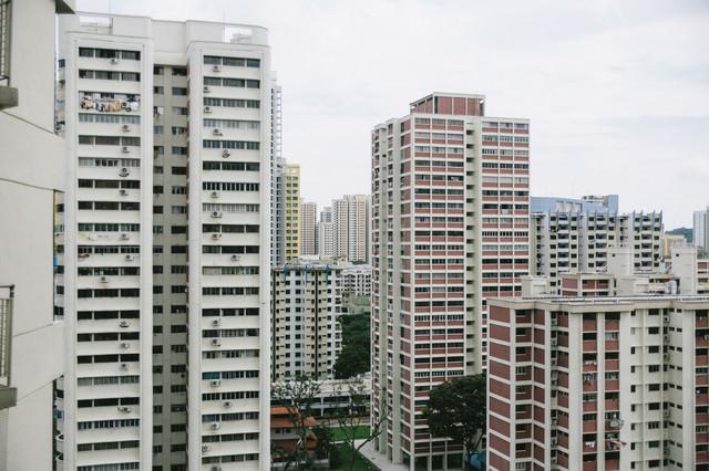 シンガポールの高層マンションの写真
