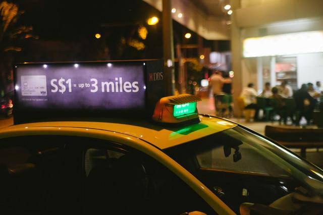 シンガポールのタクシーの写真