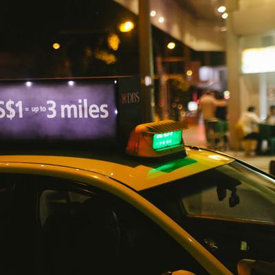 「シンガポールのタクシー」の写真素材