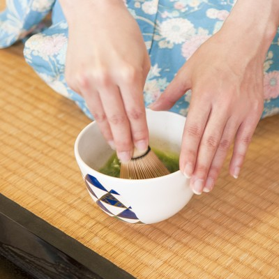 「お茶を点てる(手元)」の写真素材