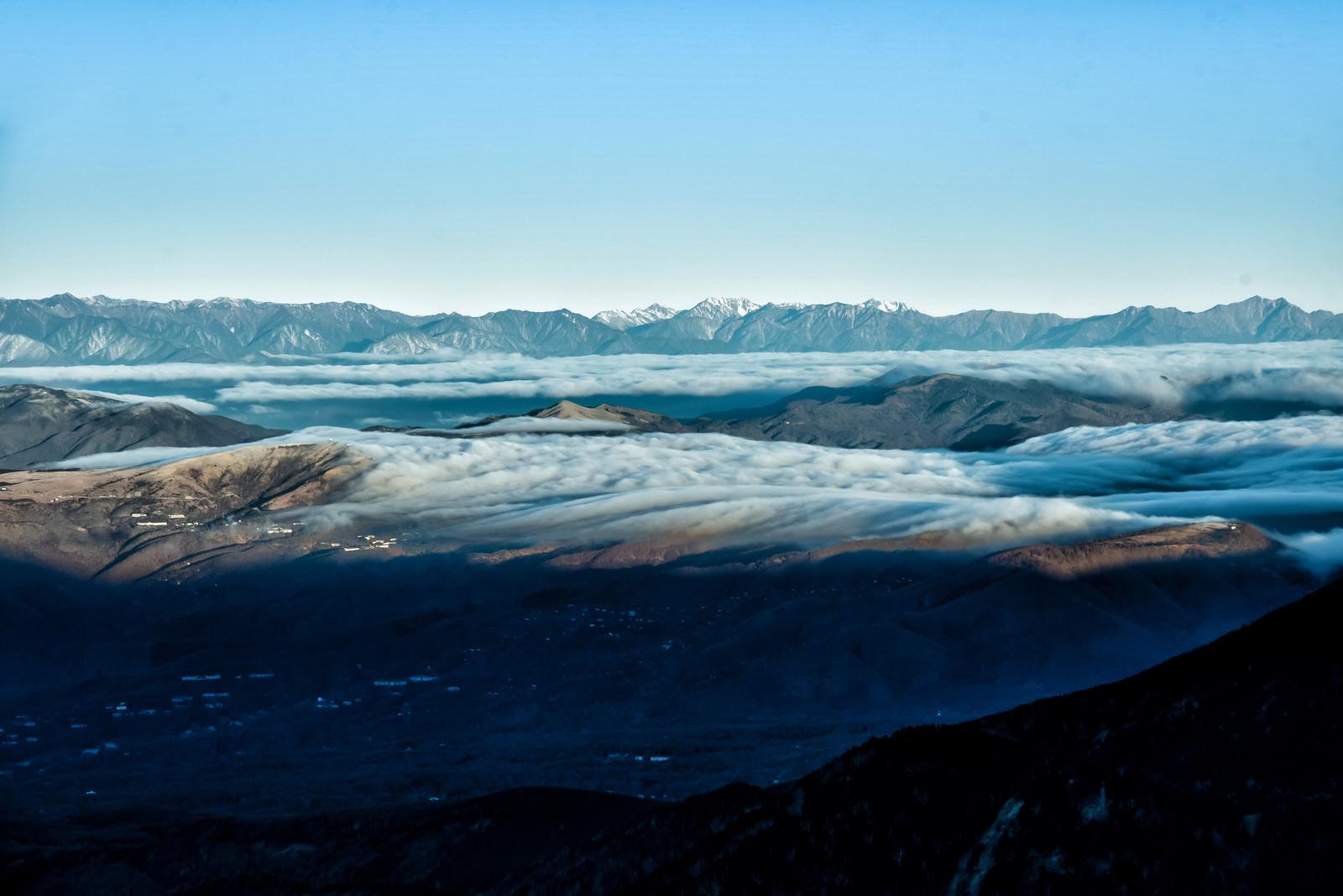 「北アルプスと雲海の大パノラマ」の写真