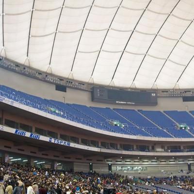 「東京ドームの観客席」の写真素材