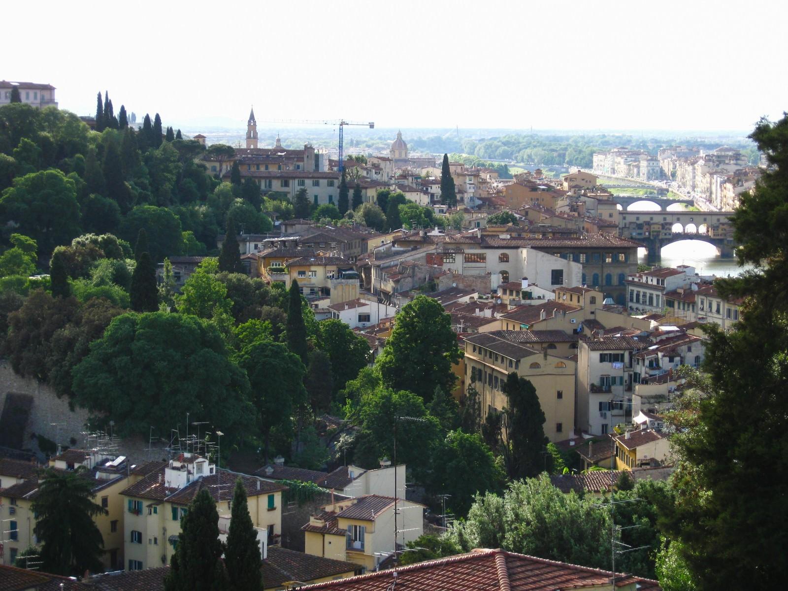 「自然に囲まれたフィレンツェの街並み(イタリア)」の写真