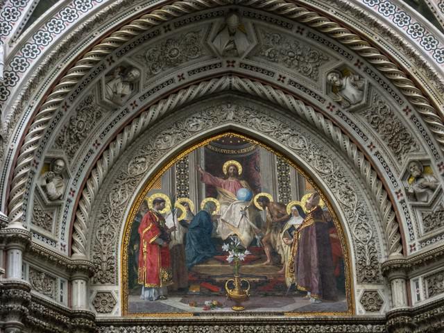サンタ マリア デル フィオーレ大聖堂の宗教画(イタリア)の写真