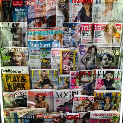 フィレンツェの様々な雑誌(イタリア)の写真