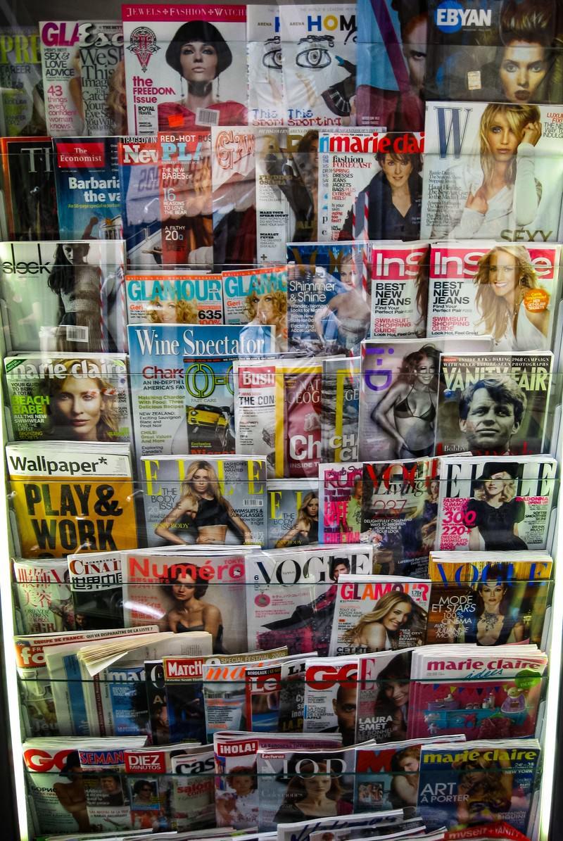 「フィレンツェの様々な雑誌(イタリア)」の写真