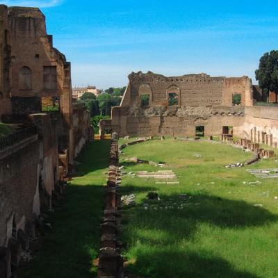 世界遺産のフォロ・ロマーノ遺跡(イタリア)の写真