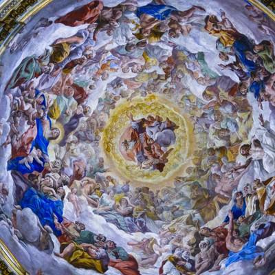 大聖堂の天井画(イタリア)の写真