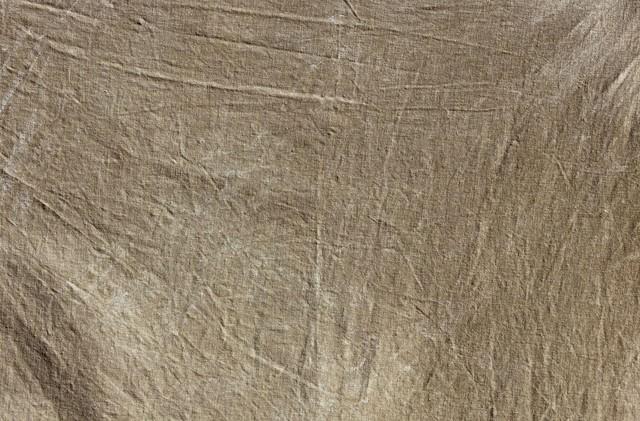 茶色いボロボロの布(テクスチャー)の写真