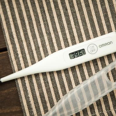 39度台の体温計の写真