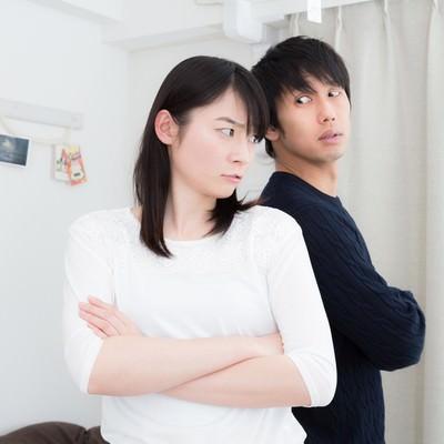 「意見の不一致(夫婦喧嘩)」の写真素材
