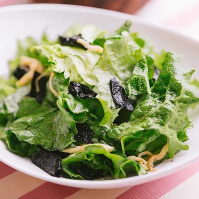 「ごま油風味のサラダ」の写真素材