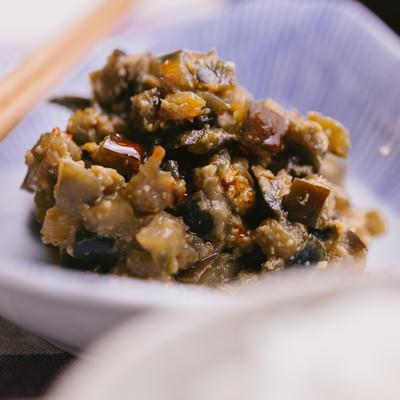 「ジューシーなナス味噌」の写真素材