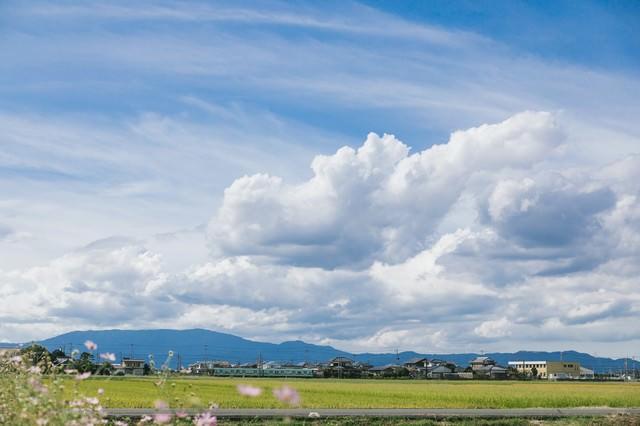 大刀洗の平野と田園風景の写真