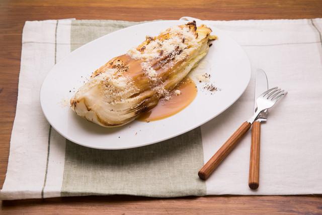 白菜を使った野菜のステーキ(235キロカロリー)の写真