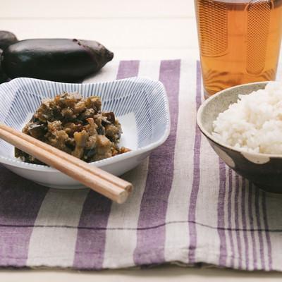 「ご飯と相性抜群の茄子味噌」の写真素材