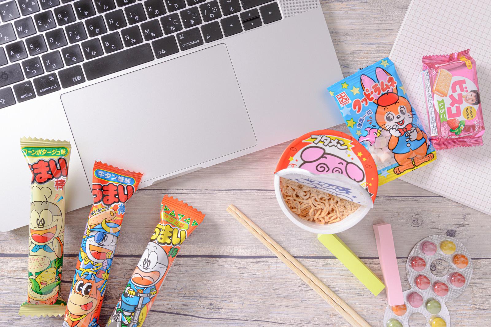 「小腹を満たすために用意したお菓子」の写真