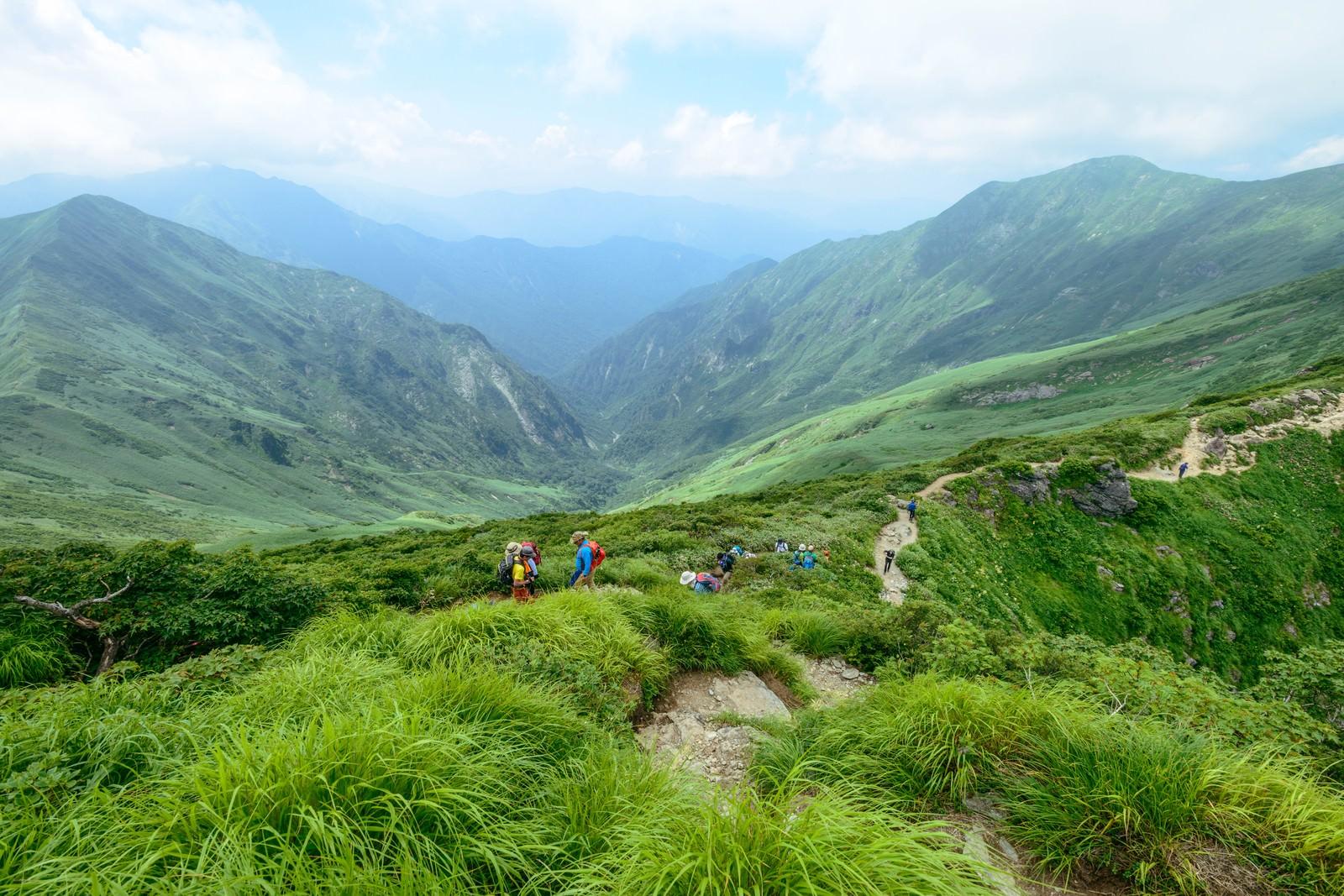 「谷川連峰オキの耳へ続く登山道」の写真