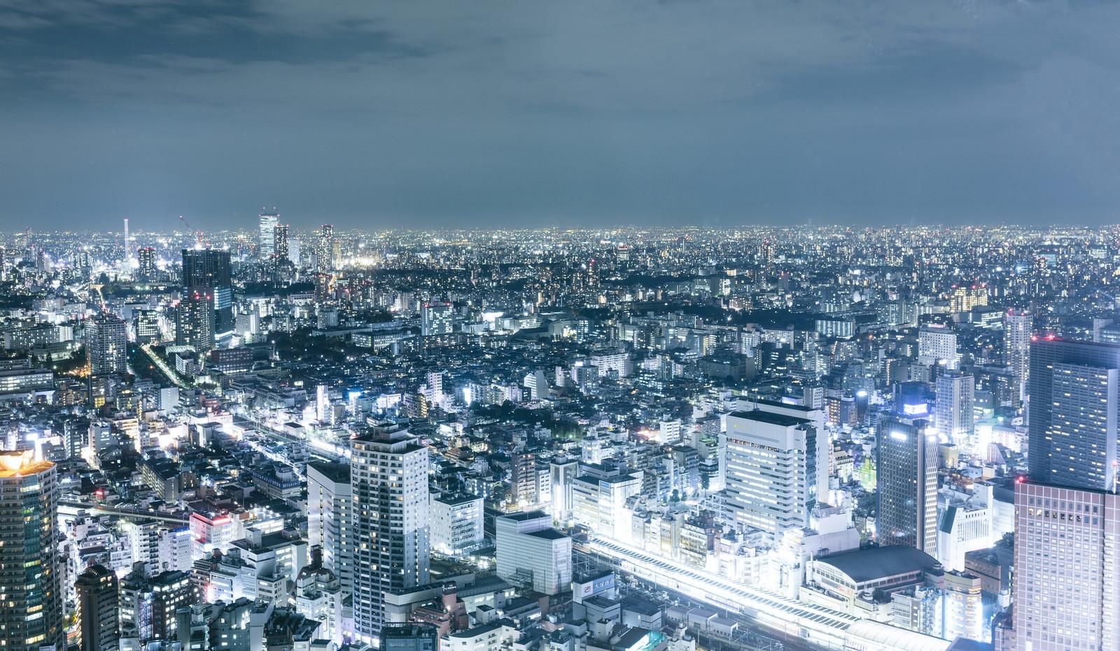 「東京の夜景東京の夜景」のフリー写真素材を拡大