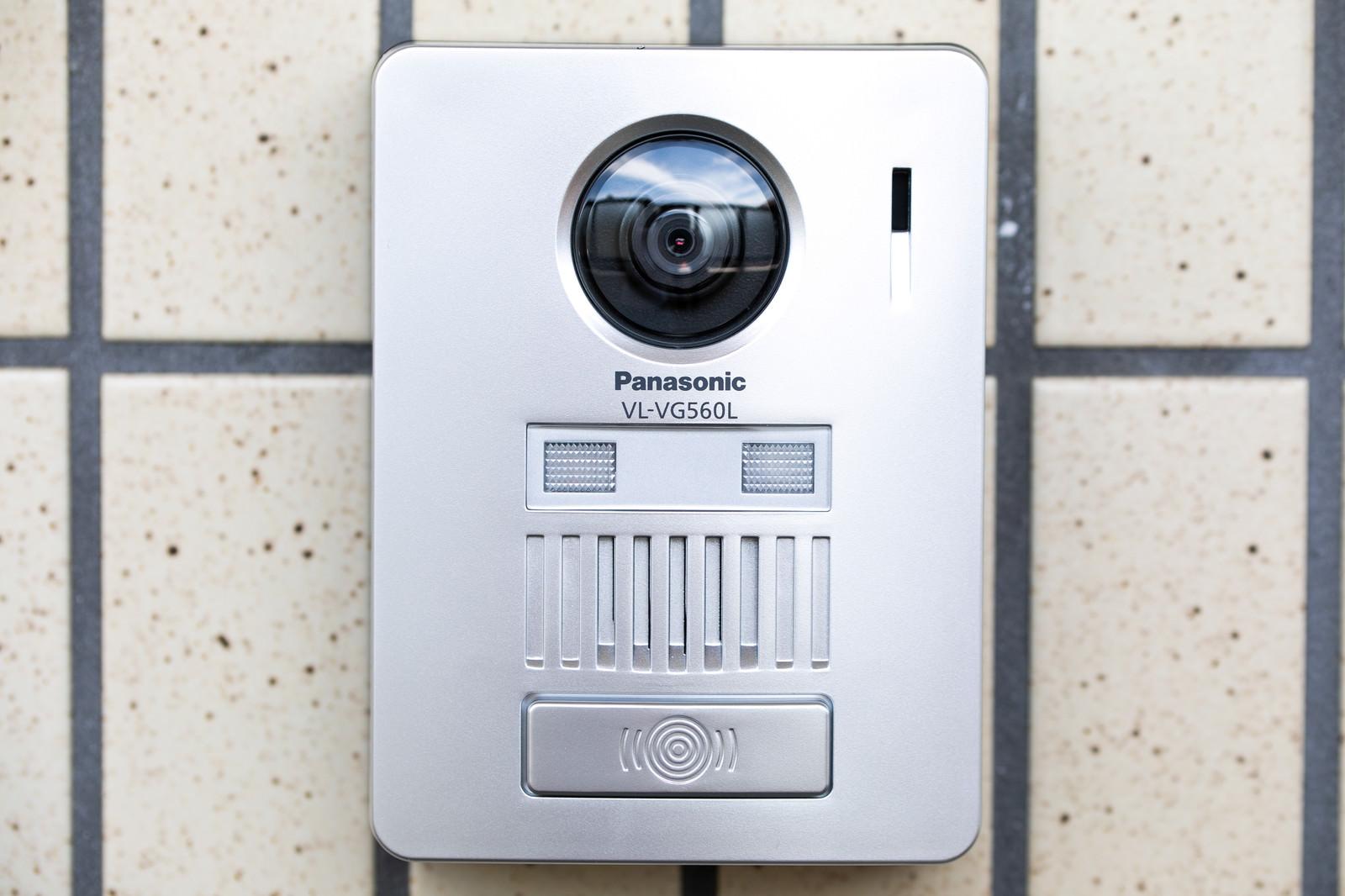 「カメラ付きのインターホンカメラ付きのインターホン」のフリー写真素材を拡大