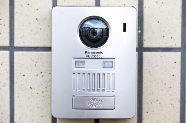 カメラ付きのインターホンの写真