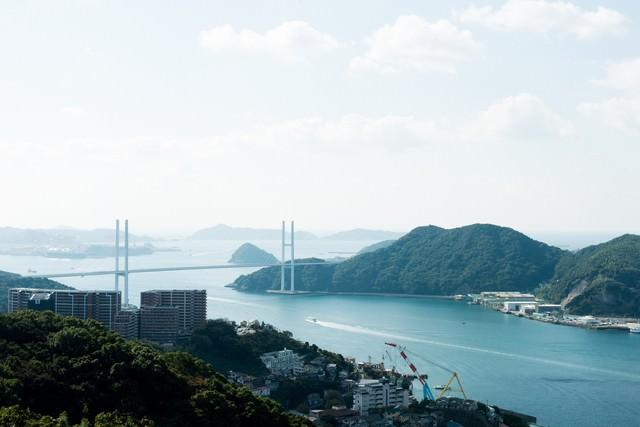 長崎県の女神大橋の写真