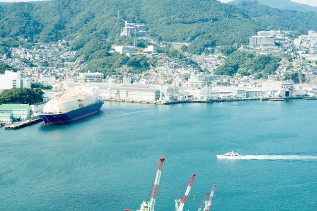 長崎、鍋冠山からの景色の写真