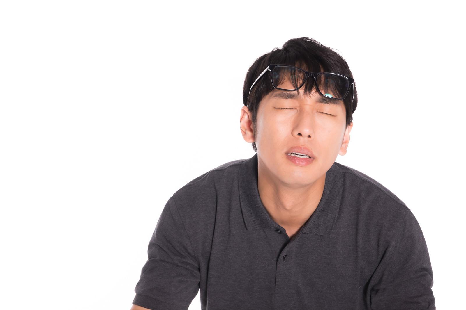 「おでこのメガネでデコデコデコリーン」の写真[モデル:大川竜弥]