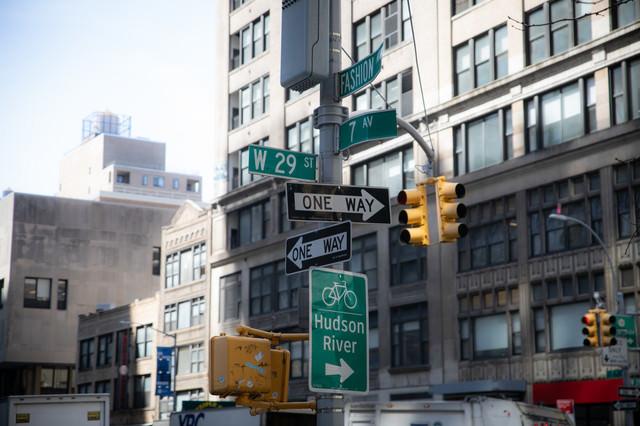ニューヨークの標識の写真