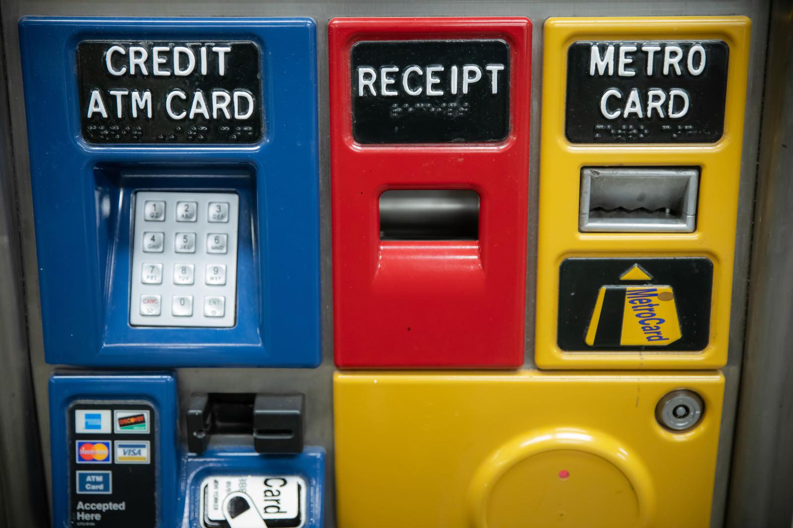 「METRO CARD ATM」の写真