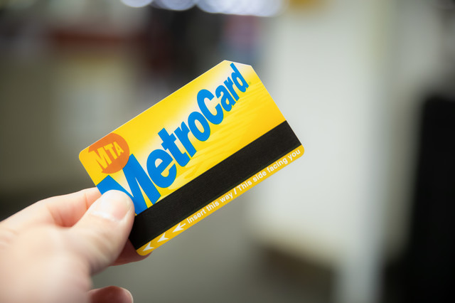 磁気ストライプ式のプリペードカード(ニューヨーク)の写真